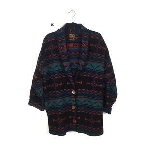 Vintage ALPS Southwest Boho Wool Oversized Coat